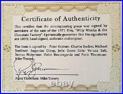 Wonka Golden Ticket Autographed (signed) By Five, Plus Extras