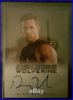 X-Men Wolverine Origins Ryan Reynolds Autograph Signed Card Deadpool Wade Wilson